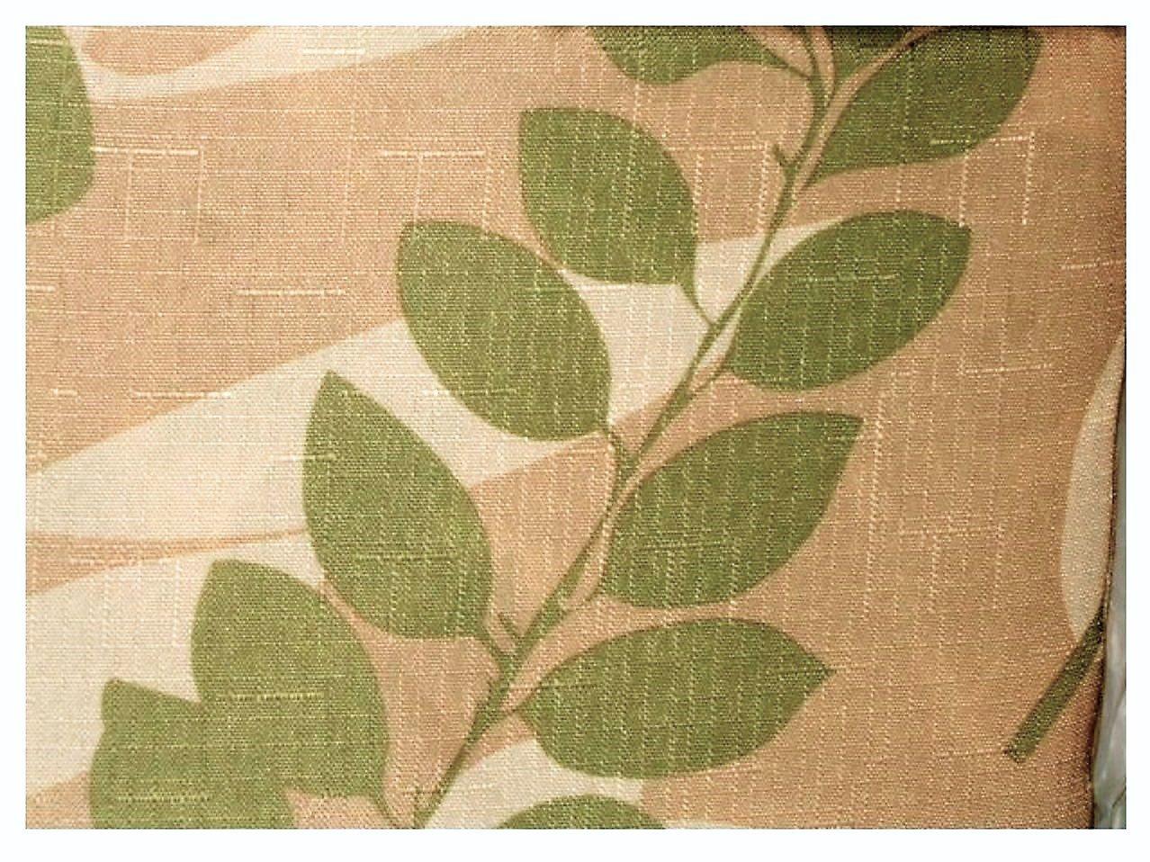 Leaf Motif Fabric Tablecloth Round
