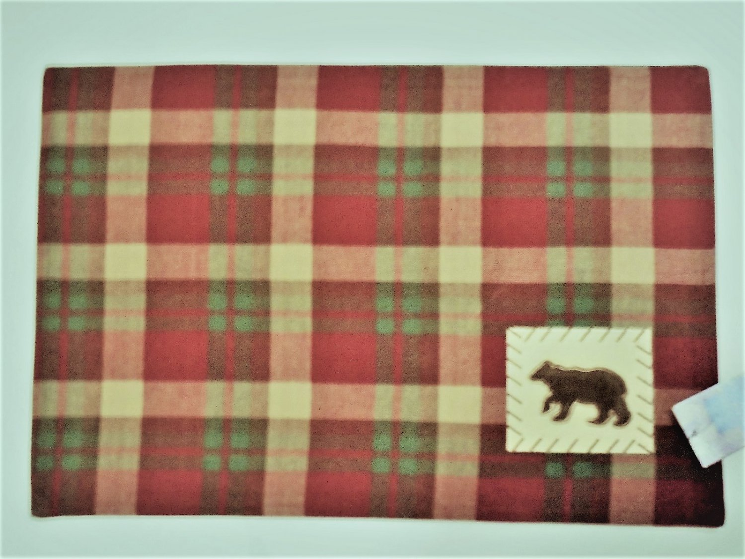 Bear Placemats Set Cabin Cottage Decor