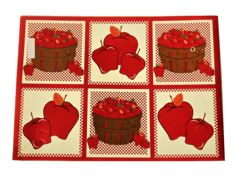 Apple Placemats Set Baskets Of Apples