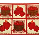 Apple Placemats Set Baskets of Apples