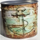 Nautical Anchor Metal Ice Bucket Coastal Beach Decor