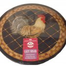Rooster Lazy Susan Wood Turntable