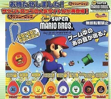New Super mario brothers Sound drop Soundrop Gashapon Full Set