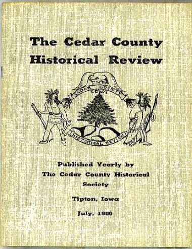 Cedar County Iowa Historical Review 1966  old schools 1966