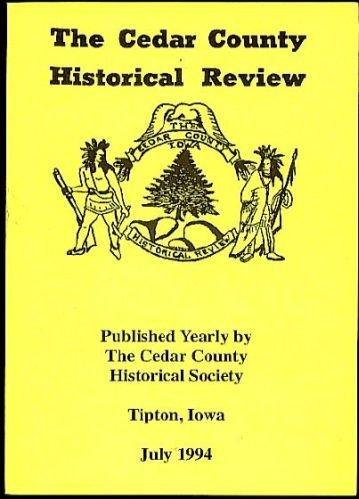 Iowa 1881 Cedar County Marriage records-Corn-1994