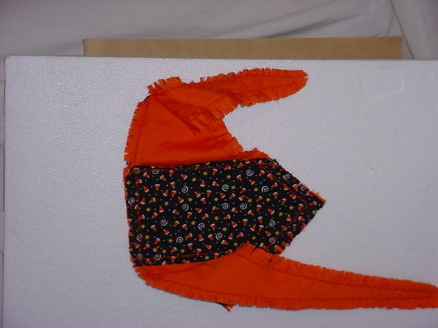 DOG Bandana  Fall Halloween Handcrafted Cotton machine embroidery eC304