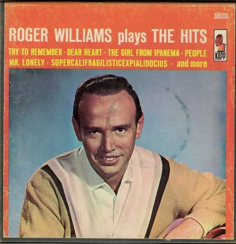 Music Roger Williams plays the HITS Stero Tape Vintage