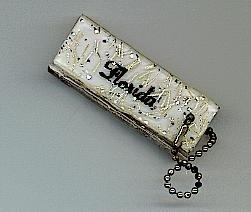 FLORIDA Key Chain Keychain Address Book Vintage Souvernir