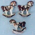 Tapa Rocking Horse Ornaments of Porcelain or Ceramic