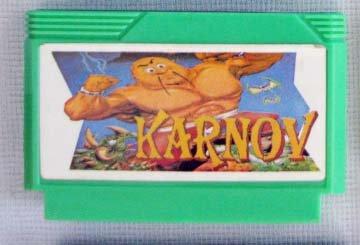KARNOV Famicom Video Games NES Import Famiclone