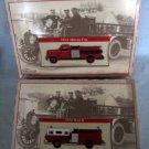 1954 AHRENS-FOX + 1974 MACK Fire Engine Trucks MIB