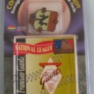 NEW YORK GIANTS 1995 25th Anniversary Card And Pin MOC