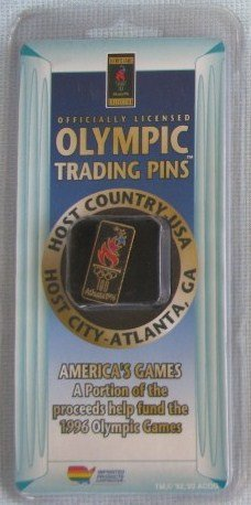 1996 ATLANTA OLYMPIC TORCH Pin MOC