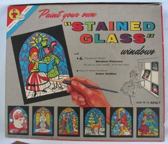 Vintage Whitman Paint Your Own STAINED GLASS Kit