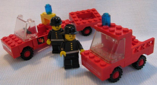 Vintage Lego Fireman S Car Fire Truck And Trailer Sets