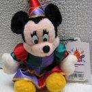 DISNEY Mickey MINNIE MOUSE JESTER Plush Pin Tokyo 1998