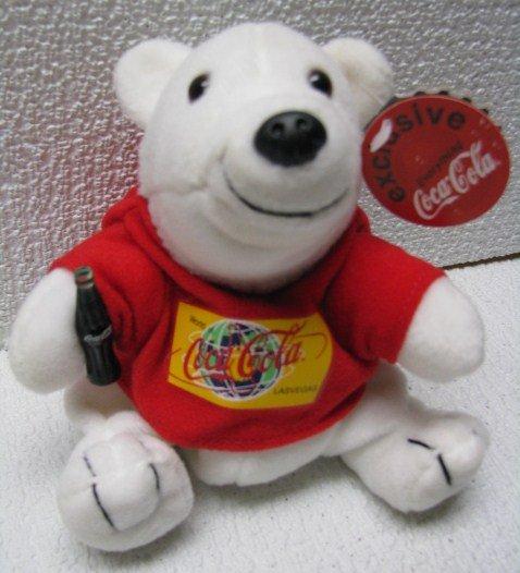 Coca Cola LAS VEGAS BEAR Bean Bag Plush COKE