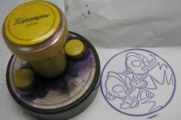 Vintage Ultraman Xstamper Rubber Stamp