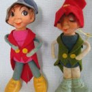 Vintage Pixie Christmas Ornament Santa Helpers - Pipe Cleaners