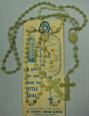 Vintage Glo-In-The-Dark Rosary