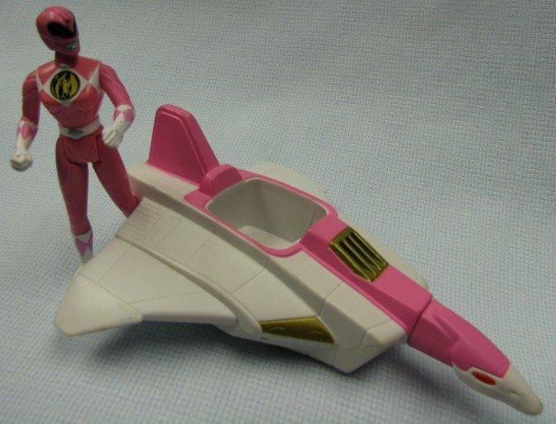 How To Figure Car Payment >> Power Rangers PINK RANGER w CRANE NINJAZORD Action Figure McD Saban