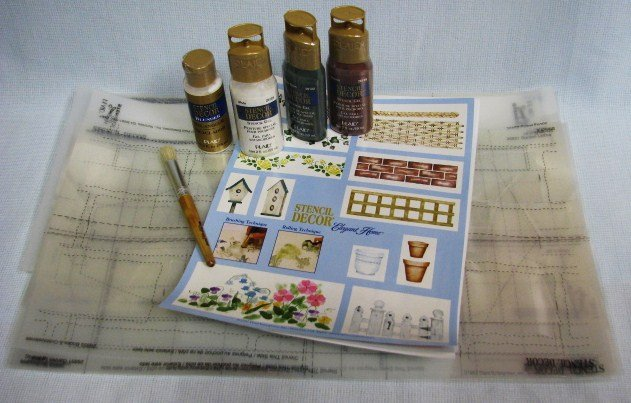 Garden Scenes Stencil Kit Lot by PLAID