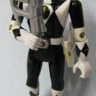 Power Rangers Auto-Morphin Zack Black Ranger Flip Head Figure Bandai