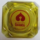 Las Vegas Del Webb's Hotel Sahara Glass Ashtray