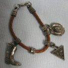 Guess Silver Western Cowboy Boot Charm Bracelet
