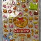 Puffy Bear and Bread Stickers MIP Koguma Pan Scrapbooking