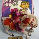 Monkey Riding Horse Tin Wind-Up Toys NIB