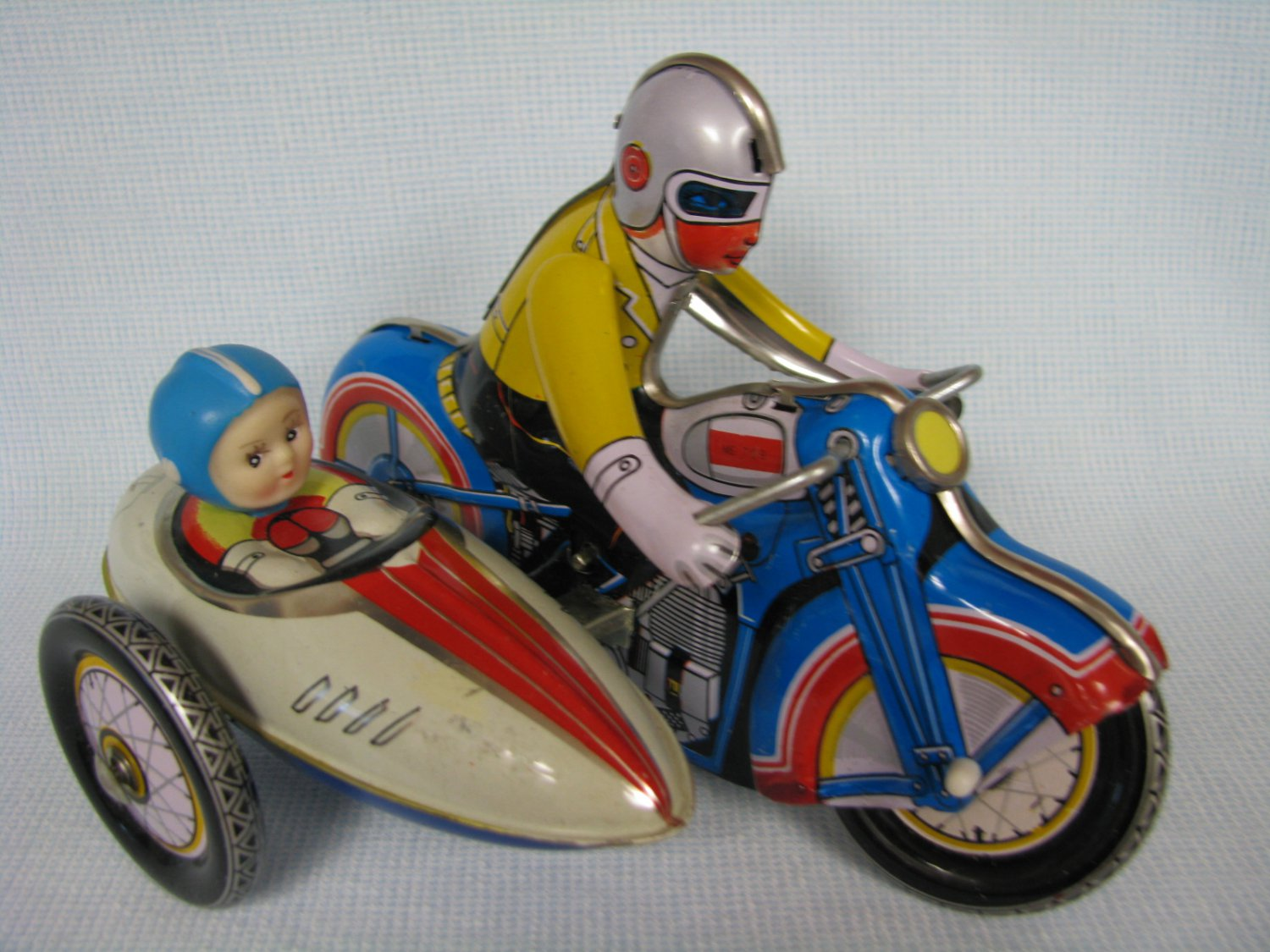 Tin Wind Up Motorcycle With Sidecar