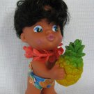 Vintage Vinyl Rubber Doll - Pineapple Kissing Doll