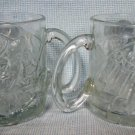 McDonalds Batman Forever Riddler Glass Mugs Pair