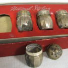 National Sterling Silver Salt and Pepper Shakers Boxed Set