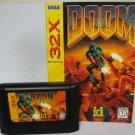 Sega 32x DOOM Video Game