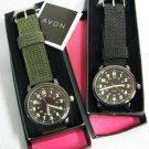 AVON Military Style Black Canvas Strap Watch MIB