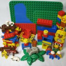 Duplo Lego Bricks People Animals Train Bases Lot
