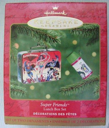 Hallmark Super Friends Lunch Box Ornaments MIB 1999