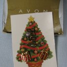Avon Noel Pin and Presents Earrings MIB 1998