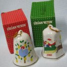 Lillian Vernon Porcelain Bells x2 Ornaments MIB 1988