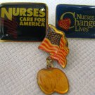 Vintage Nurses Care For America Change LivesPins