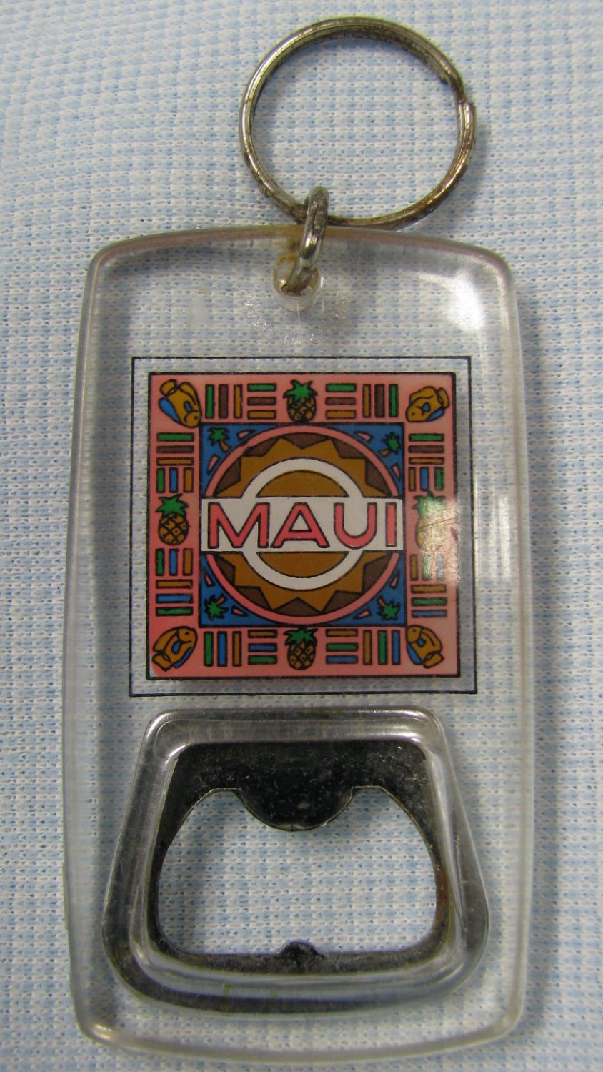 vintage maui bottle opener keychain hawaii. Black Bedroom Furniture Sets. Home Design Ideas