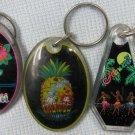 Vintage Aloha Hawaii Islands Souvenir Acryllic Keychains