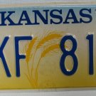 1998 Kansas Auto License Plate