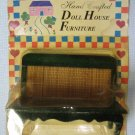 Wood Rattan Bench Dollhouse Miniatures Furniture MOC