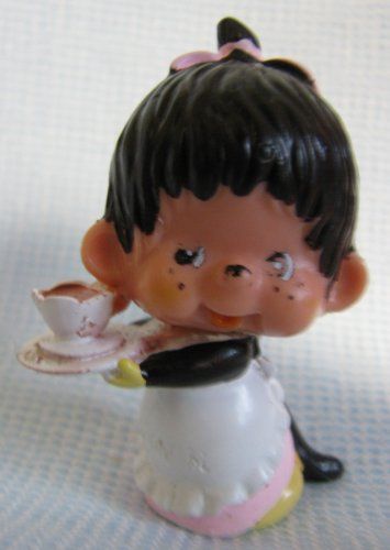 Vintage Monchichi Mini Figure Cup n Saucer