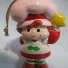 Strawberry Shortcake Ceramic Ornament