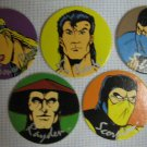 Mortal Kombat Pogs Lot Slammers Milk Caps