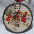 Christmas Noel Ornament Lead Glass W Germany